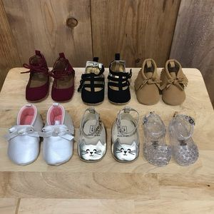 6 pairs of girls 0-3 months shoes SO CUTE!!